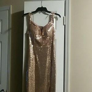Champagne  Gold Prom Dress